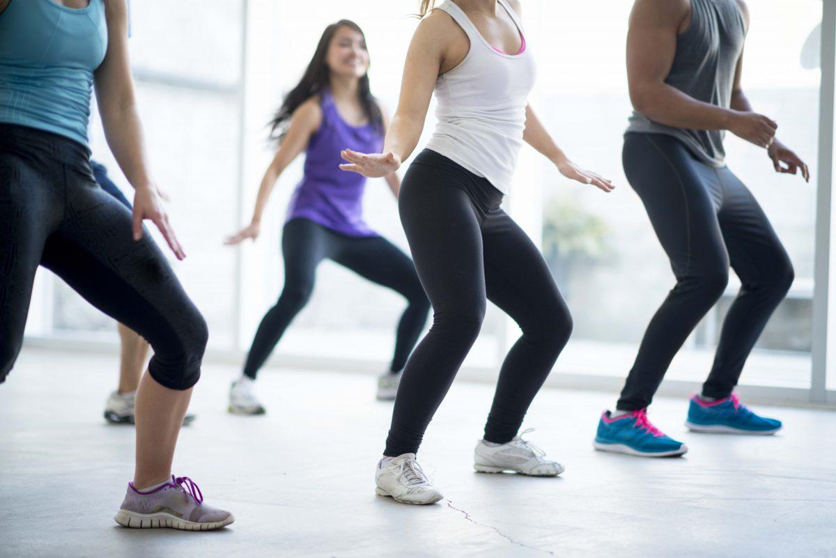Young adults dancing at a dancing studio